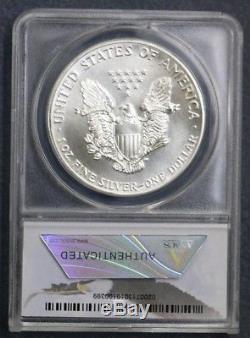 1986 $1 American Silver Eagle Anacs Ms70 From 30th Anniv Set Rare