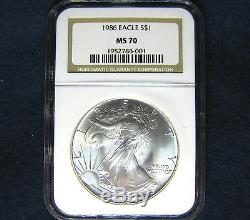 1986 $1 American Silver Eagle NGC MS70 Coin