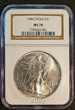1986 $1 Silver American Eagle NGC MS70 First Year of Issue! Free Shipping
