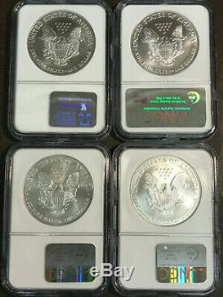 1986-2005 $1 American Silver Eagle 20 Coin Set NGC MS69 including KEY 1996 &CASE