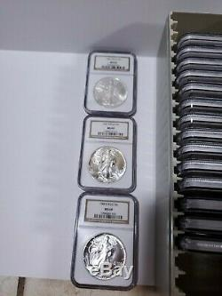 1986-2005 20-Coin Silver American Eagle Set All coins are MS-69