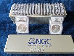 1986 2005 American Silver Eagle 20 Coin Set Ngc Ms69 Brown Premium Coins