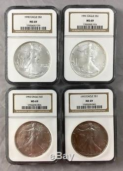 1986-2005 American Silver Eagle Set 20 Silver Coins NGC MS69 FREE SHIPPING