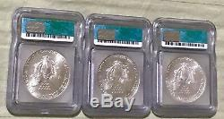 1986-2005 American Silver Eagles ICG MS69 20 BEAUTIFUL COINS WITH BOX PICTURED