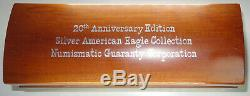1986-2005 Silver American Eagle 20-Coin Anniversary Set / NGC MS69 MS-69