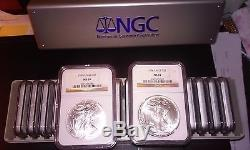 1986 2006 American Silver Eagle Set -NGC MS69 21 Coin Set