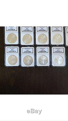 1986-2007 $1 1 Oz 999 American Eagle Silver Coin 22 Piece Set All MS69 by NGC