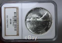 1986 2007 1 Oz American Silver Eagle 22 Coin Set Ngc Ms 69