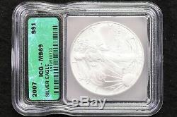 1986-2007 Silver American Eagles ICG MS-69