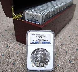 1986-2010 American Silver Eagle Set 25-Coins (Set #1084/5000) $1 NGC MS69