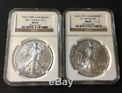 1986-2013 American Silver Eagle NGC Set MS-69 With 2 NGC Boxes