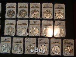 1986-2016 $1 American Silver Eagle Set of 31 NGC MS 69 in Red NGC Boxes