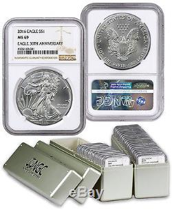1986 2016 1 Oz American Silver Eagle Set (31 Coins) NGC MS69 SKU42244