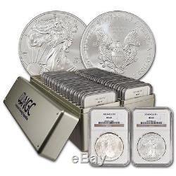 1986-2016 Silver American Eagle Set NGC (MS69) 2 NGC Boxes 31 coins total