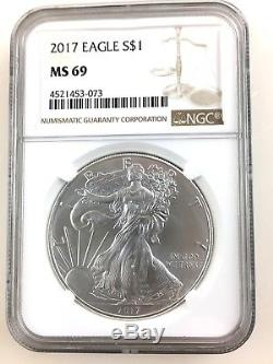 1986-2017 $1 AMERICAN SILVER EAGLE Complete Set NGC MS69 32 Coins C10