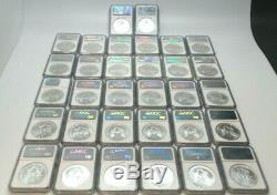 1986-2017 32 Coins Year Set 1 oz Silver American Eagle. 999 US Coins MS69 NGC G5