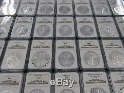 1986-2017 999 Silver American Eagle Set MS 69 NGC Brown Label Complete Set of 32