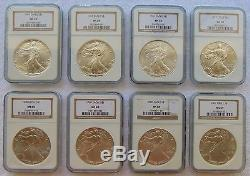 1986-2017 American Silver Eagle Complete 32 Coin Set NGC MS69 Brown Label