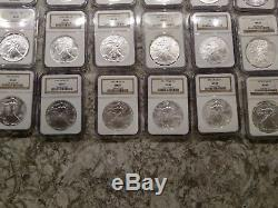 1986-2017 American Silver Eagle MS69 NGC Brown Label 32 Piece Coin Set LOOK