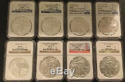 1986-2017 American Silver Eagles NGC MS69 Includes 20th. Anniversary Collection