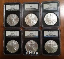 1986 2017 MS69 COMPLETE 32 COIN AMERICAN SILVER EAGLE SET NGC Retro