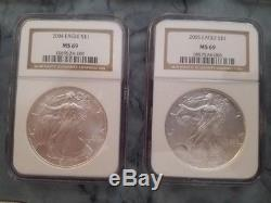 1986-2018 American Silver Eagle NGC MS69 Registry Set 33 Coins