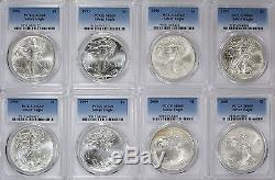 1986-2018 American Silver Eagles Complete 32-Coin Set Each Graded PCGS MS69