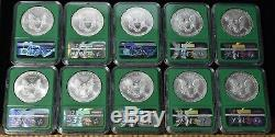 1986-2019 American Silver Eagle 34 Coin Set NGC MS69 From Mint Sealed Box