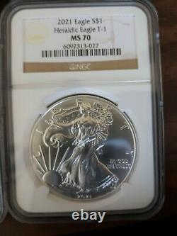 1986-2020 AMERICAN SILVER EAGLE MS69 + 2021 MS70 (36 coin set) NGC