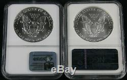 1986-2020 American Silver Eagle Complete 35 Coin Set NGC MS 69 Brown Label