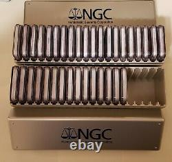 1986-2020 American Silver Eagle NGC MS69 COMPLETE 35-Coin SET & 2 NGC Boxes