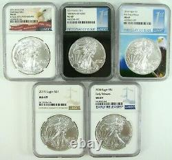 1986-2020 American Silver Eagle NGC MS69 Complete Set 35 Coins FREE SHIP
