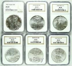 1986-2020 American Silver Eagle NGC MS69 Complete Set 35 Coins FREE SHIP (2)
