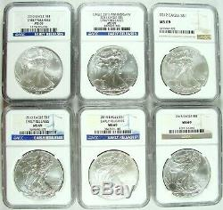 1986-2020 American Silver Eagle NGC MS69 Complete Set 35 Coins FREE SHIPPING