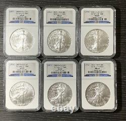 1986-2021 American Silver Eagles Complete 36-Coin Set Each Graded NGC MS69 #2