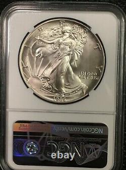 1986 American Eagle Silver $1 MAJOR STRUCK THRU ERROR COIN MS 69 NGC