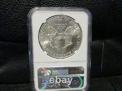 1986 American Silver Eagle 1oz. 999 Silver Dollar Ngc Ms70