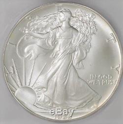 1986 American Silver Eagle $ #4000602103 MS70 ICG