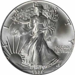 1986 American Silver Eagle Dollar MS70 PCGS Mint State 70