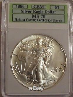 1986 American Silver Eagle MS 70 NGCS