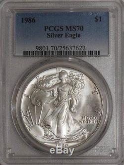 1986 American Silver Eagle MS70 PCGS