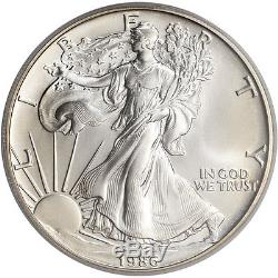 1986 American Silver Eagle PCGS MS70