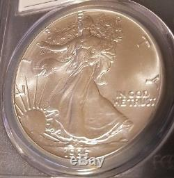 1986 American Silver Eagle PCGS MS70 Mercanti Signed. LOW POPULATION