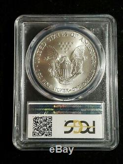 1986 American Silver Eagle PCGS MS70 QA STICKER
