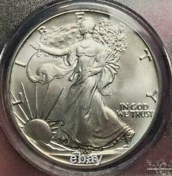 1986 American Silver Eagle Pcgs Ms-70 Gadsden Flag Label