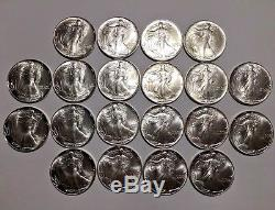 1986 American Silver Eagle Roll Tube BU UNC MS Coin $1 FIRST YEAR KEY DATE