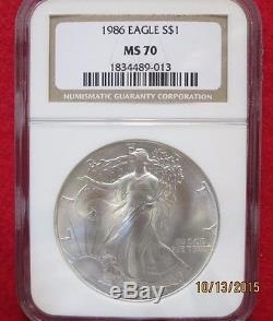 1986 MS 70 American Eagle Silver Dollar