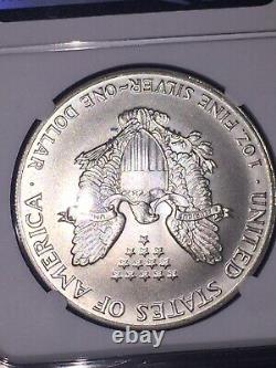 1986 (S) AMERICAN SILVER EAGLE STRUCK AT SAN FRANCISCO NGC MS 69 Dont Miss Out