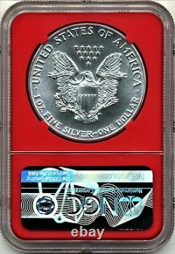 1986(S) NGC MS70 Silver American Eagle - Red Bridge Core