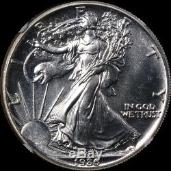 1986 Silver American Eagle $1 NGC MS68PL Prooflike RARE